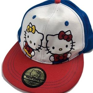 New Hello Kitty Baseball Hat Flat Bill SnapBack
